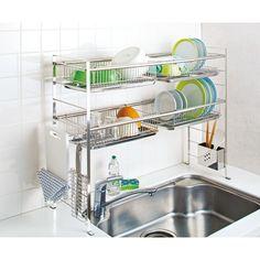 charming stainless steel dish rack in the kitchen 32 Modern Kitchen Cabinets, Kitchen Organisation, Kitchen Design, House Design, Kitchen Decor, Modern Kitchen, Kitchen Room, Kitchen Interior, Home Decor