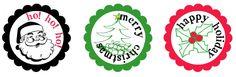 christmas mason jar labels
