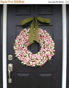 SPRING WREATH SALE 22 inch Spring Wreath Mother's by ElegantWreath