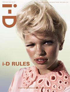 Daphne Groeneveld on I-D. Amazing picture, love the hair, skin, everything.