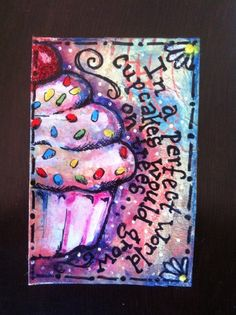 Awesome Cupcake ATC -   Would love something like this or a little larger for my kitchen