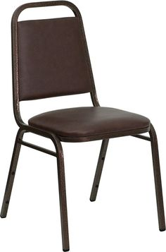 HERCULES Series Trapezoidal Back Stacking Banquet Chair  Vinyl and 1.5'' Thick…