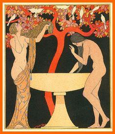 Les Chanson de Bilitis/The Songs of Bilitis  by Pierre Louÿs, illustrated by Georges Barbier,1922