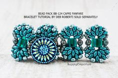 Bead Pack BB-124 Capri Fanfare, Bracelet by Deborah Roberti, Tutorial Sold Separately