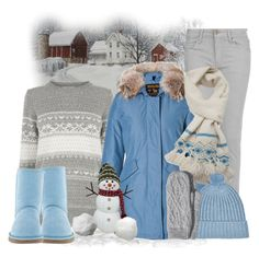 """""""Let It Snow"""" by smylin ❤ liked on Polyvore featuring MANGO, Oasis, Woolrich, Dosa, UGG Australia, River Island and H&M"""