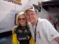 Me and Miss Sprint Cup Kim Coon at Atlanta in 2012