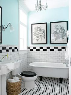 Bathroom-Makeovers-on-a-Budget-1, Photo  Bathroom-Makeovers-on-a-Budget-1 Close up View. love the wall/floor coloring