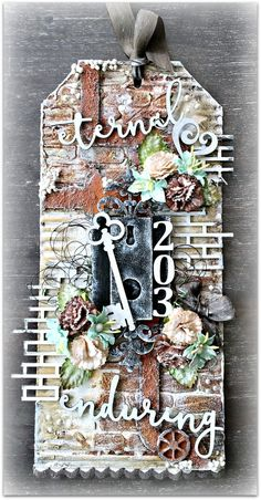 Nanne's Creations: Large mixed media tag-CEdaily