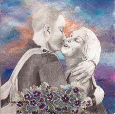 By: Satu Laaninen  Herkkupurkki: kollaasiHerkkupurkki: kollaasi pikkukimalainen.blogspot.com  drawing, portrait, kiss, love, collague