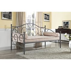 DHP Victoria Twin-size Pewter Metal Daybed - Overstock™ Shopping - Great Deals on DHP Kids' Beds