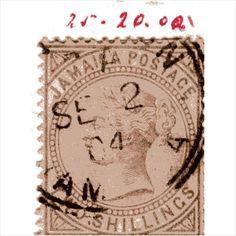 QV Jamaica 2 Shillings Venetian Red (SG25) used CDS