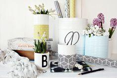 Bianca zeigt auf Roombeez wie sie aus Konservenbüchsen Wohnaccessoires macht. Dosen bemalen und schick dekorieren kann eigentlich jeder.