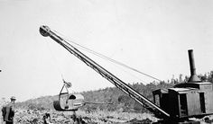 Ruston Steam Shovel,Morwell Latrobe Valley, Gippsland, Victoria, Australia, circa 1925