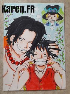 Fan Art de Ace et Luffy, pensant à Sabo...( One Piece)