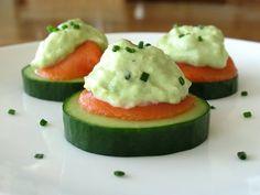 Cucumber Slices With Smoked Salmon And Avocado Cream Recipe - Genius Kitchen