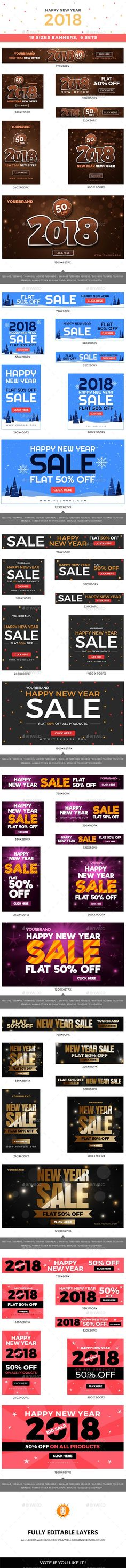 108 New Year Web Banners