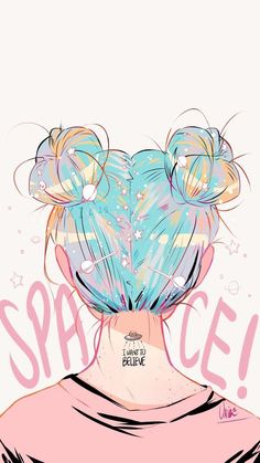 Hair Drawing Illustration Artworks For 2019 on InspirationdeYou can find illustration art drawing and more on our website.Hair Drawing Illustration Artworks For 2019 on Insp. Cute Wallpaper Backgrounds, Tumblr Wallpaper, Galaxy Wallpaper, Cute Wallpapers, Wallpaper Space, Girl Wallpaper, Tumbler Backgrounds, Phone Wallpapers Tumblr, Iphone Wallpaper Tumblr Aesthetic