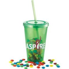 Double-wall acrylic tumbler and straw with stopper. Product ships with matching color straw unless specified otherwise in purchase order. BPA Free. 16oz.