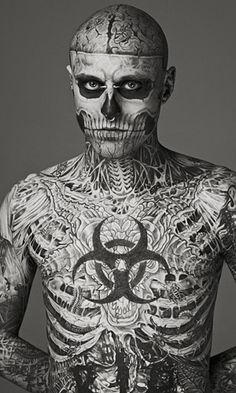 Rick Genest AKA Zombie Boy! I find him somewhat attractive idk why
