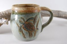 Sea turtle coffee mug by CenterHillClayWorks