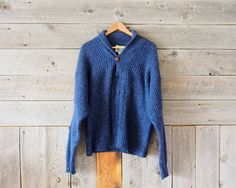 vintage blue knit sweater