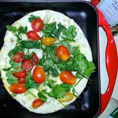 Cheesy Cilantro  Tomato Quesadillas With Greek Yogurt Sauce! via @Pinterest @Kathy Davis-Reid island studios #lunch