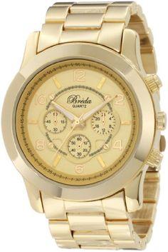 4. Breda Women's 2308-Gold Jordan Oversized Boyfriend Gold Watch