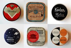 Vintage typewriter ribbon tins
