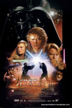 Star Wars - Episode III - Revenge of the Sith Poster Poster Print, PDecorate your home or office with high quality posters. Star Wars - Episode III - Revenge of the Sith Poster is that perfect piece that matches your style, interests, and budget. Star Wars Poster, Star Wars Film, Star Wars Watch, Star Wars Art, Poster Poster, Star Wars Teil 1, Anakin Skywalker, Truffaut Film, John Williams Star Wars