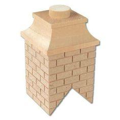 Wood Brick Chimney