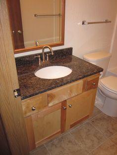 Birch Bathroom Vanities standard bathroom vanities - newberry birch rouge finish