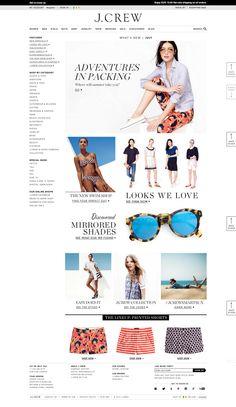 Top retailing websites - jcrew