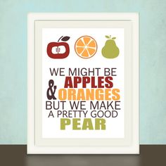 Kitchen Art Print Wedding Anniversary by pitterpatterpress on Etsy, $18.00