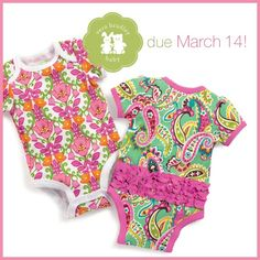 Until now I was not sure if I would prefer future baby to be a boy or girl, but I think Vera Bradley onesies just pushed the balance toward girl.