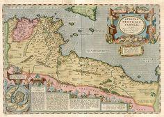 rare map tunisia ifriqia provincia africa romana
