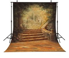 >> Click to Buy << European Castle Stairs backdrop Vinyl cloth Computer printed children Photography Backgrounds #Affiliate