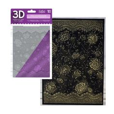 Holly /& Ivy Frame plus free Boarder Crafter/'s Companion 3D Embossing Folder