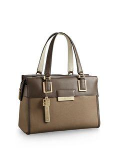 Calvin Klein White Label valerie bowler satchel Bag Purse Handbag #CalvinKlein #Satchel