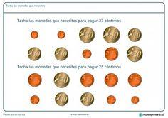 Ficha de monedas necesarias para Primaria