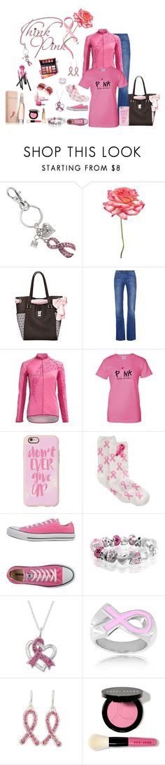 """""""Breast Cancer Awareness Month"""" by nemesisktn ❤ liked on Polyvore featuring Universal Lighting and Decor, The Bradford Exchange, Tory Burch, Casetify, Charter Club, Converse, Bling Jewelry, West Coast Jewelry, Bobbi Brown Cosmetics and Donna Karan"""
