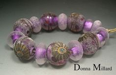HANDMADE LAMPWORK GLASS Bead Set Donna Millard by DonnaMillard