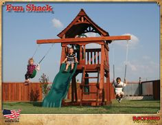 Maybe without slide ...Playsets-Playground Equipment-Wooden Swing Sets-Children's Wood Forts