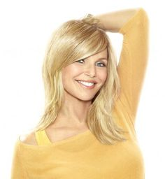 Full Sweeping Side Fringe Clip-In Bang by Christie Brinkley. Change your hairstyle in a snap with this clip-in side swept bang! Wigs For Cancer Patients, Clip In Extensions, Side Fringe Bangs, Cut Bangs, Clip In Fringe, Medium Hair Styles, Natural Hair Styles, Wilshire Wigs, Bob Hairstyles