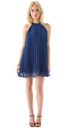 accordion pleat dress