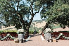 Outdoor Rustic Winery Ceremony Space    Photography: Katie Shuler Photography   Read More:  http://www.insideweddings.com/weddings/rustic-chic-outdoor-wedding-at-a-winery-in-northern-california/945/
