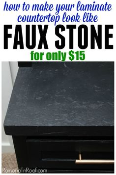 NO WAY! So easy and you may even have the supplies laying around your house! How to make Laminate Countertops look like Faux Stone for only $15