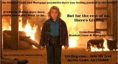 Back off! Givling.com Invite Code: AS225966 #givlingcode #studentloans #mortgage #debt #trivia #firestarter #pyro #fire #StephenKing #backoff