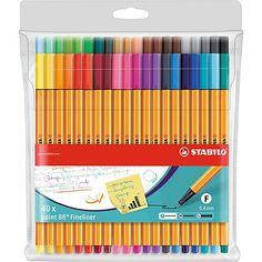 Stabilo Pen 68, Stabilo Point 88, Stabilo Boss, Japanese School Supplies, Cool School Supplies, College School Supplies, School Supplies Organization, School Stationery, Makeup Organization