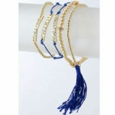 Designer's Forever Best Friends Bracelet Blue Don't hesitate to augment your style with this Forever Best Friends Bracelet, which is actually five looks wrapped into one. This trendy bracelet makes its own statement. Jewelry Bracelets
