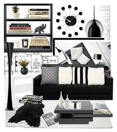 """black and white"" by missoumiss ❤ liked on Polyvore featuring interior, interiors, interior design, home, home decor, interior decorating, Balmain, NEOM Organics, Serena & Lily and Rove Concepts"